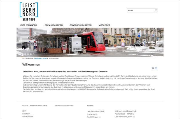 Leist Bern Nord – Webdesign Inhaltsseite