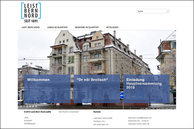Leist Bern Nord – Webdesign Startseite