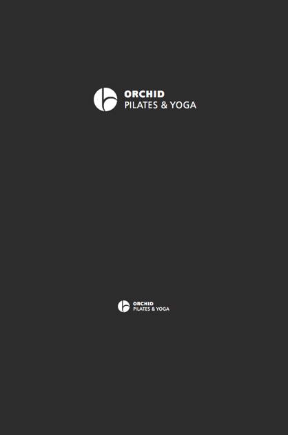 Logo-Design – ORCHID; Anwendung des Logos negativ in Schwarz und Weiss