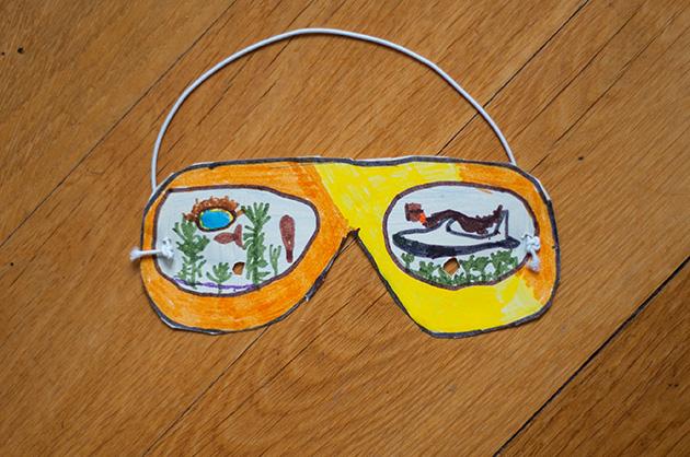 Kinderzeichnung einer Tauchmaske