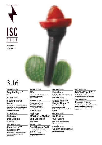 ISC-Plakatwettbewerb mit dem Sujet für die Tequila Boys