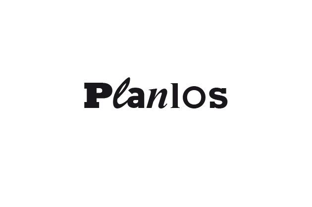 Logo Planlos – Entwurf B in Schwarz und Weiss