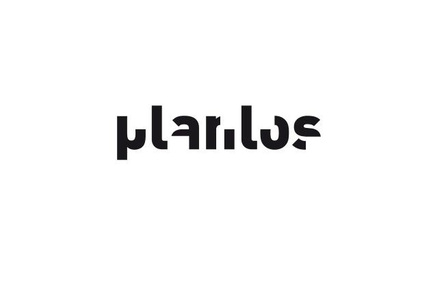 Logo Planlos – Entwurf C in Schwarz und Weiss