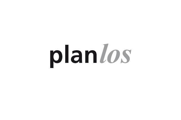 Logo Planlos – Entwurf F in Schwarz und Weiss