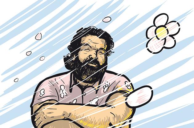 Illustration von Bud Spencer zum Ableben von Carlo Pedersoli