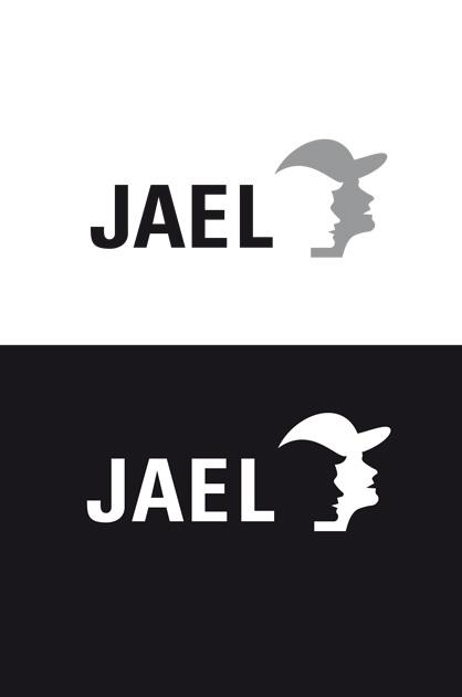 Finales Logo von JAEL, Schwarz-Weisse Anwendung positiv und negativ
