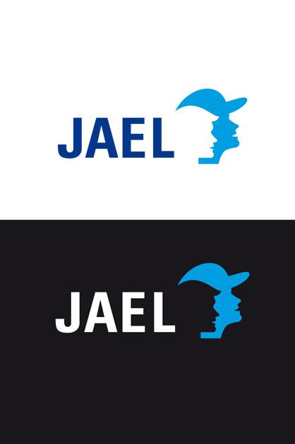 Finales Logo von JAEL, farbige Anwendung positiv und negativ
