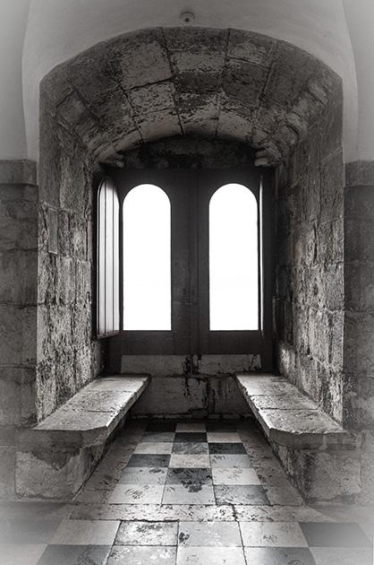 Torre de Belém; Sitznische.