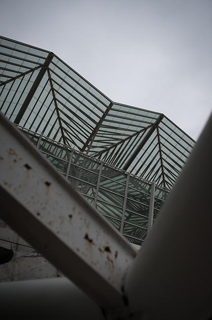 Lissabon, Expo-Gelände, Dach und Konstruktion des Bahnhofs Oriente