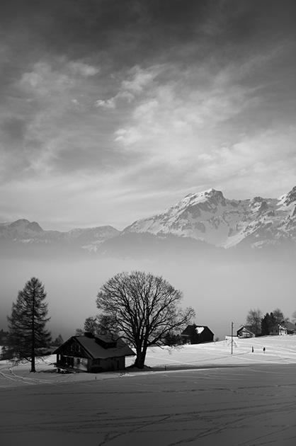 Schneelandschaft im Toggenburg