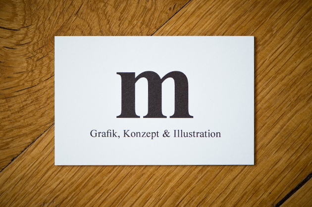 Visitenkarte manuele, Grafik, Konzept & Illustration, Coverseite