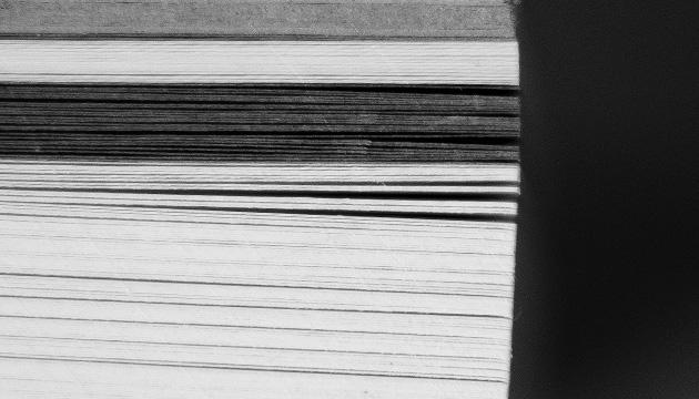 Murifeldbuch – Beitragsbild mit einem Querschnitt durch das Buch mit den verschiedenen Papiersorten