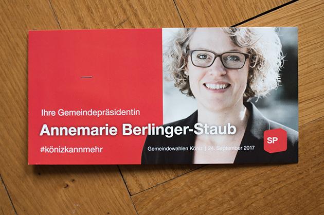 Postkarte A6/5 für Annemarie Berlinger-Staub, Cover-Ansicht