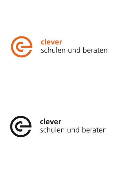 Des Fertige Logo von clever schulen und beraten in positiver Anwendung