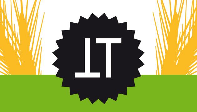 Verpackungsdesign Torta per Tutti – Beitragsbild mit dem TT-Logo, abstrahierter Kornähre und einem grünen Balken