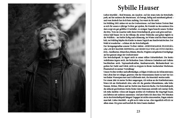 Doppelseite aus dem Murifeldbuch mit dem Beitrag von Sybille