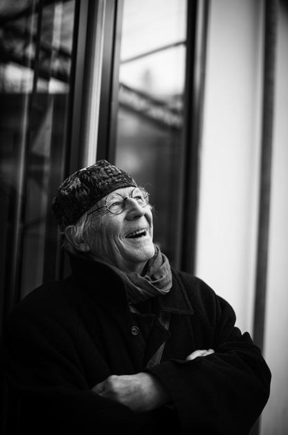 Murifeldbuch – Portrait-Foto in Schwarz-Weiss zu einem Buchbeitrag von einem alten Mann