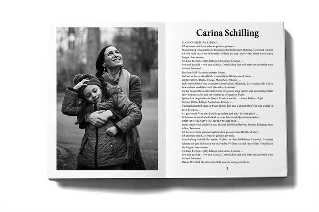 Murifeldbuch, Auszug einer Doppelseite aus dem Teil mit den Buchbeiträgen. Mutter und Tochter.