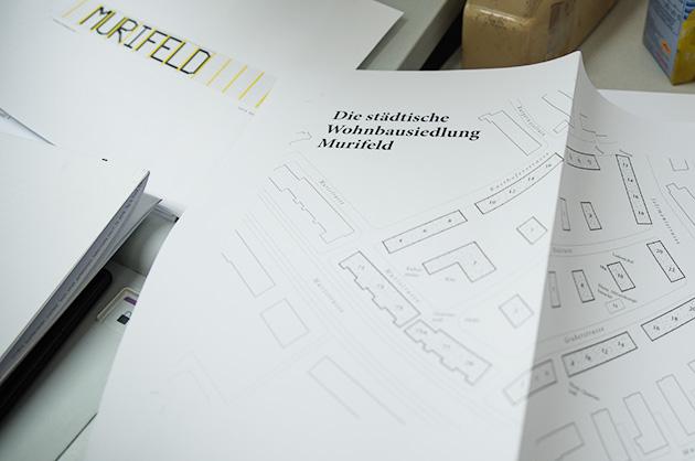 Zusammengestellte Muster als Kontrollexemplare für den Drucker