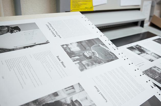 Fertig gedruckter Druckbogen zum Abstimmen