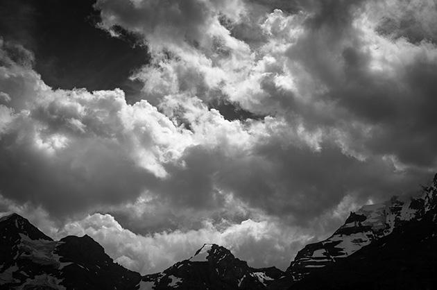 Diverse Berge, fotografiert vom Oeschinensee aus
