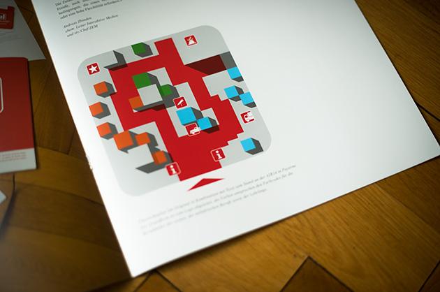 Broschüre manuele; Detail mit einem Standplan für das Personalmarketing an der AIR14