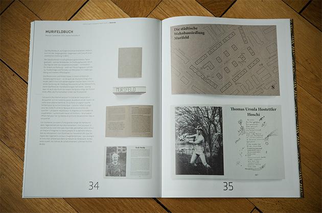 Jahresbericht SGD Showcase-Doppelseite mit dem Murifeldbuch