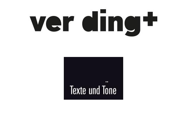 Logo-Type und das bestehende Logo der Theatercompany Texte und Töne