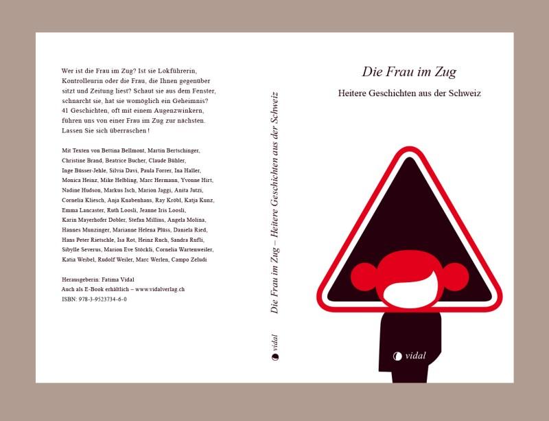 Grafik, Buchcover und Buchgestaltung für «Die Frau im Zug», erschienen im Vidal-Verlag
