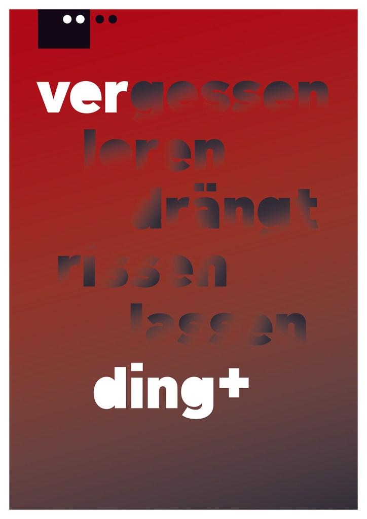 Grafik, Plakatentwurf für das Theater Ver-Ding der Theatercompany Texte und Töne