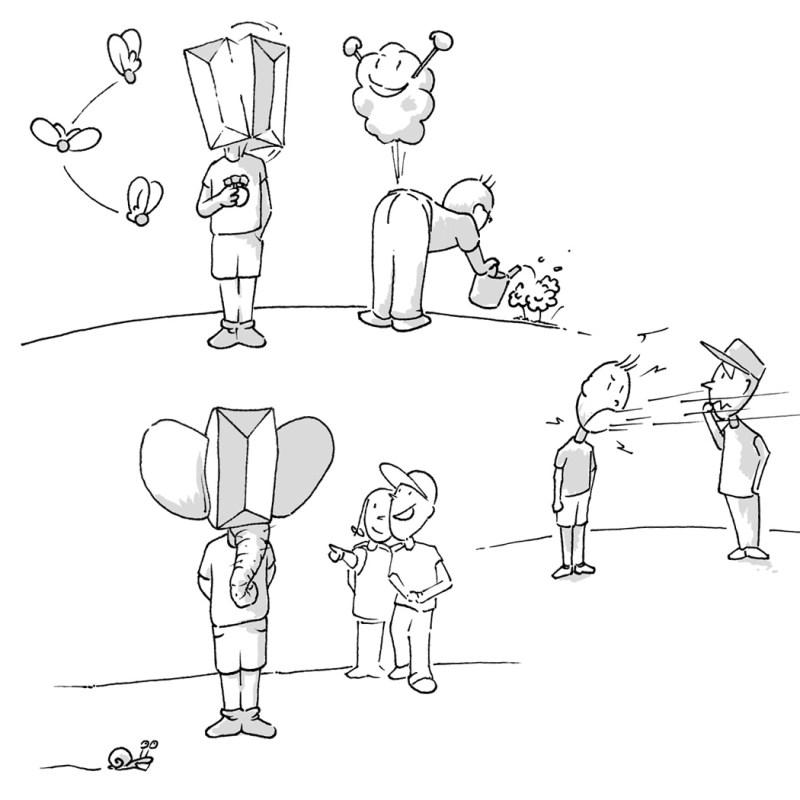 Karl: Illustration für ein Kinderbuch Projekt mit der Autorin gaby Schädler