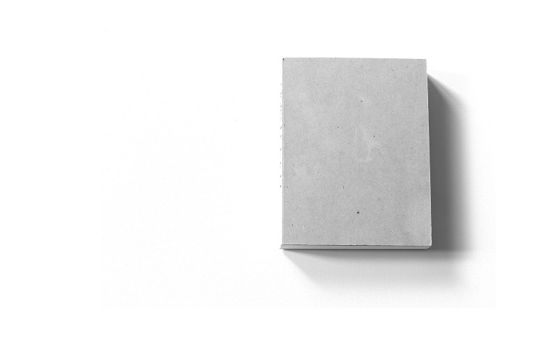 Grafik, Murifeldbuch – unbedrucktes Buchcover aus Graukarton