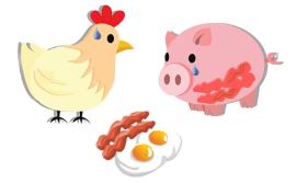 Gallina, cerdo, implicación y compromiso