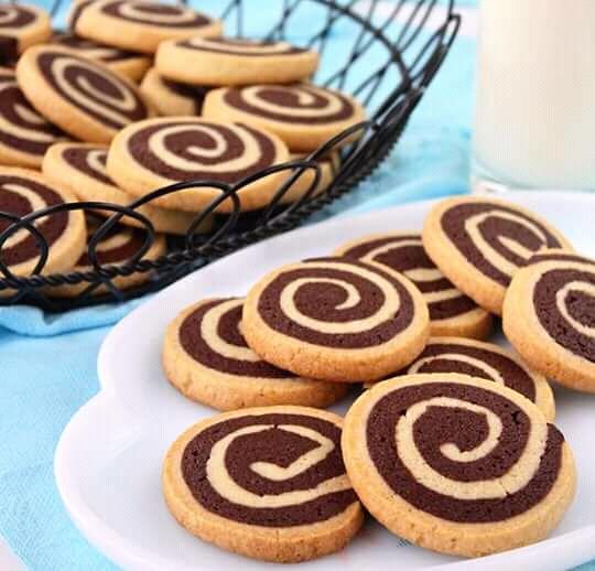 Pour Noël des Biscuits escargot vanille chocolat