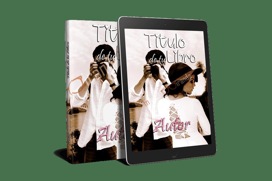 portadas para libros y ebooks fotografiando a la chica