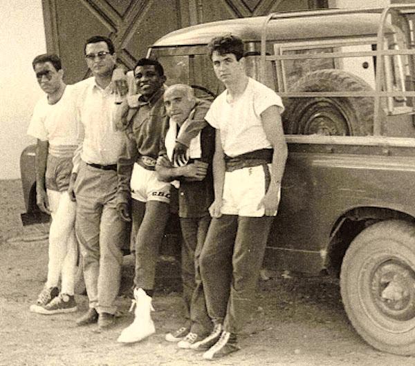 Sombrita junto a Pepe Legra 'El Puma de Baracoa' y Madrazo 'El Boxeador de Seda'
