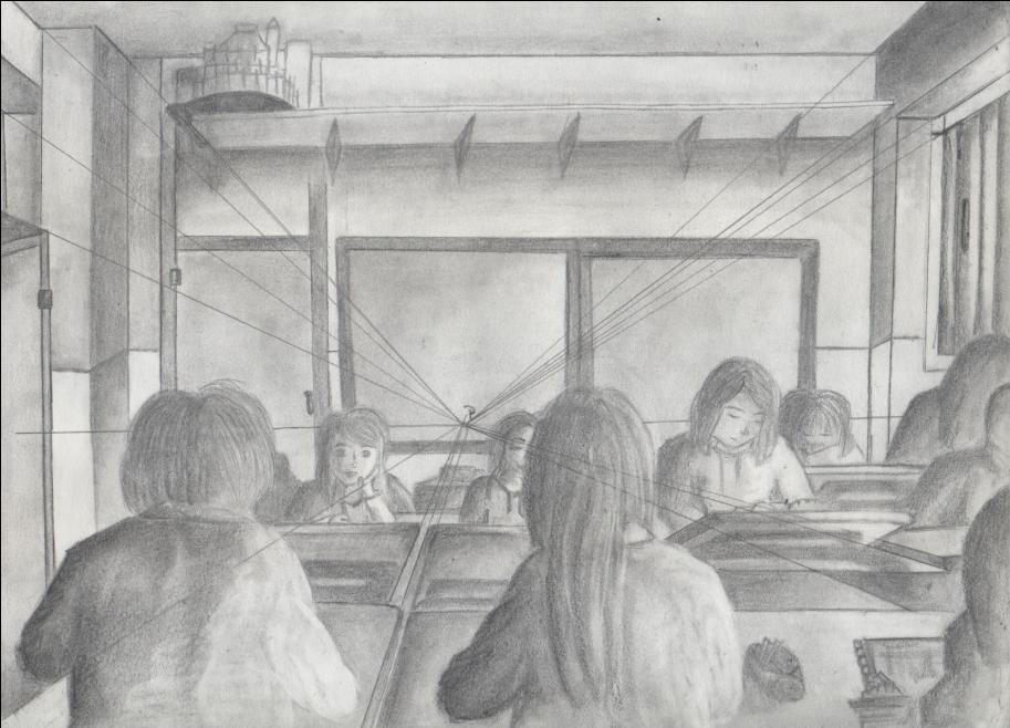 Dibujos a lpiz Grafito Perspectiva Cnica Frontal y Oblicua  manuelprofesordeproyectos Manuel Padilla lvarez