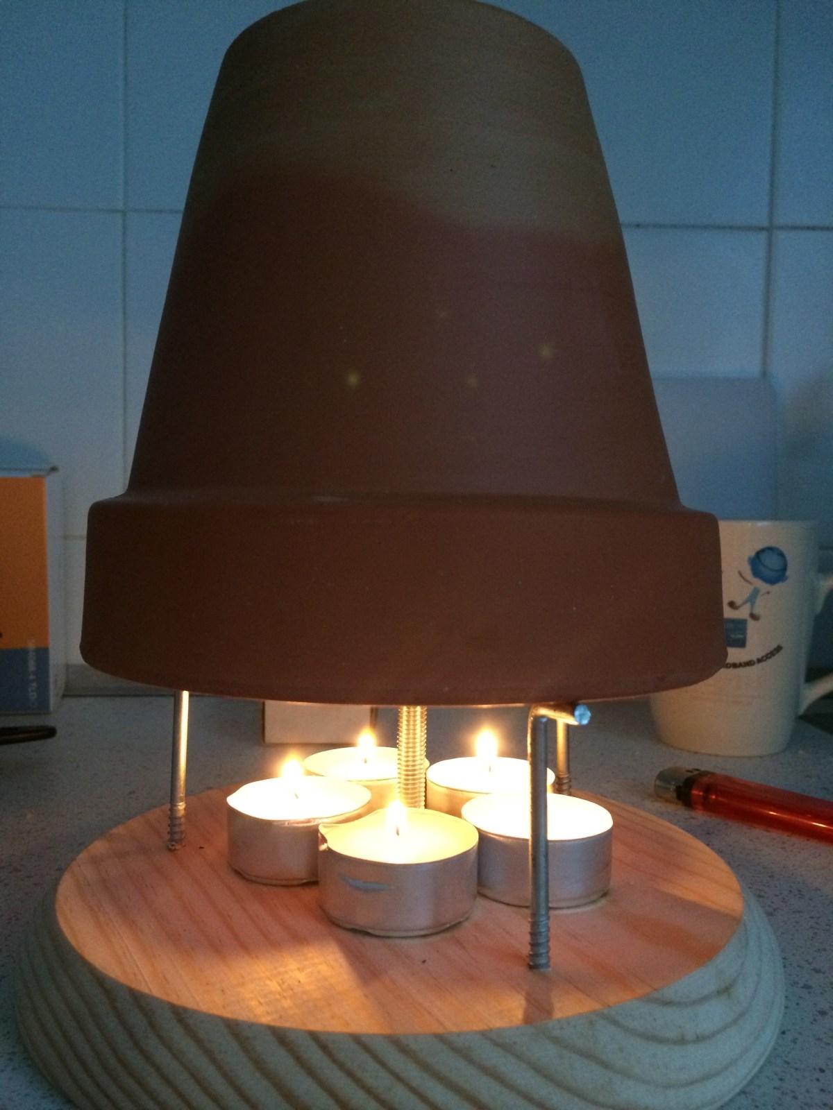Calentador de velas