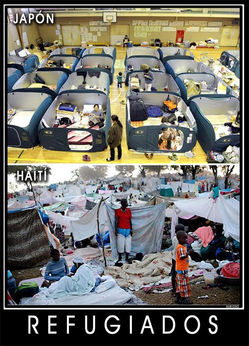 Refugiados en Japón, refugiados en Haití, por Kurioso