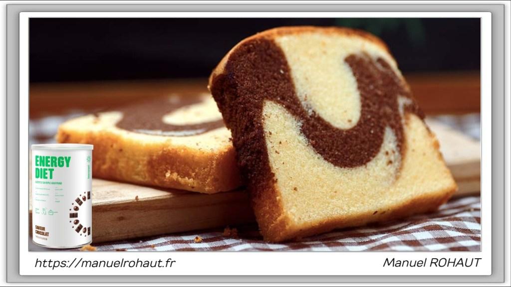 Recette healthy, saine, rapide et gourmande Beautysané© : cake marbré vanille cappuccino