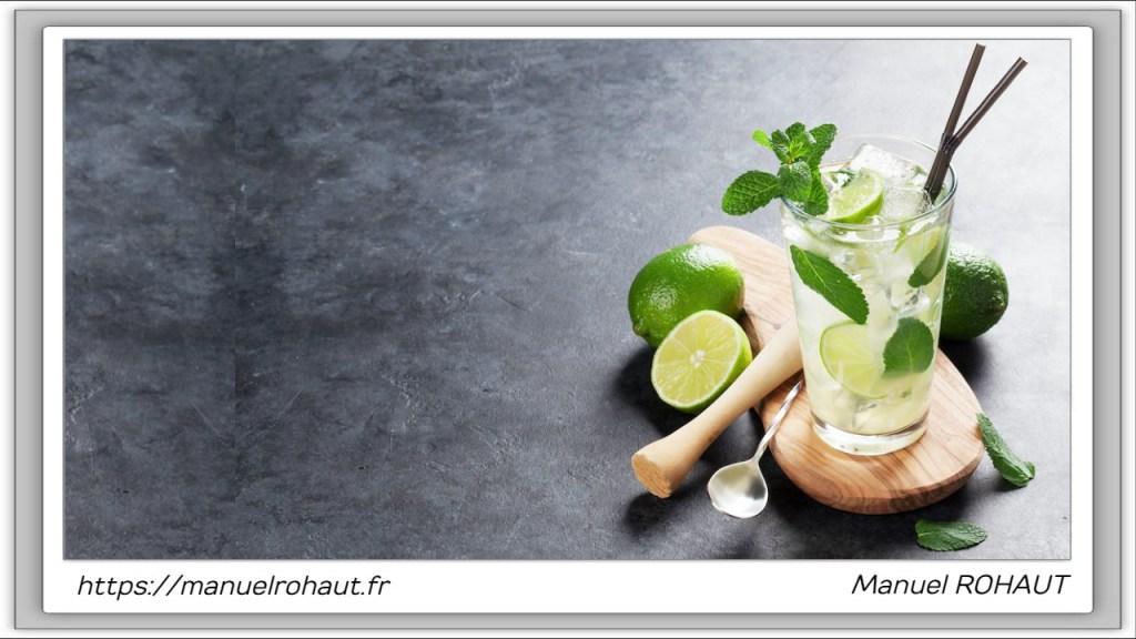 Recette healthy, saine, rapide et gourmande Beautysané© : délicieux cocktail façon mojito