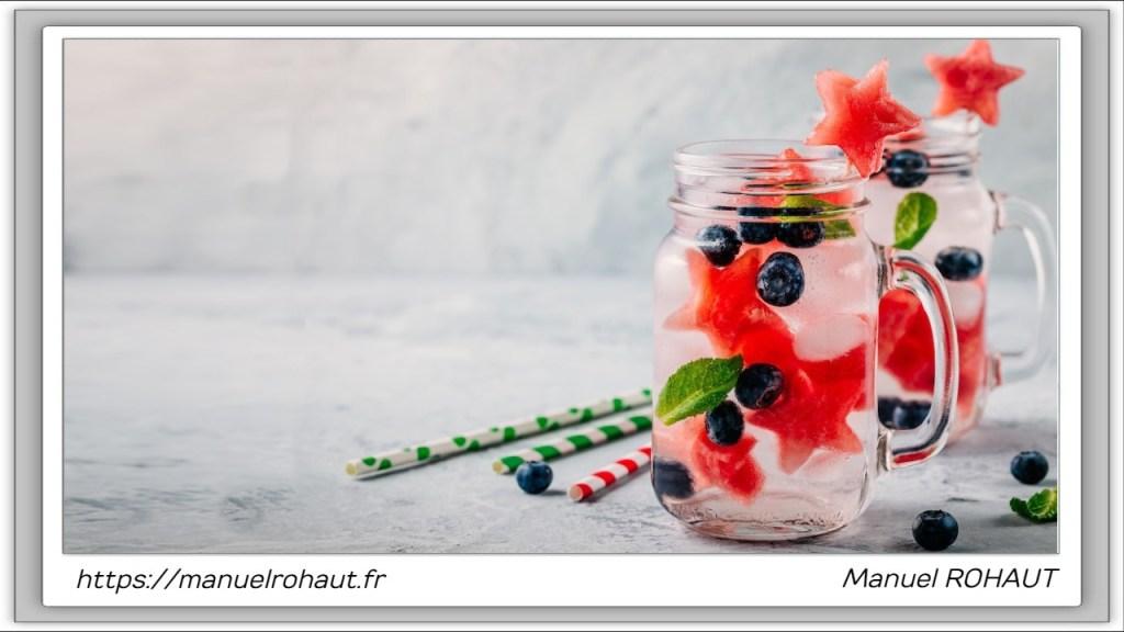 Recette healthy, saine, rapide et gourmande Beautysané© : cocktail pastèque