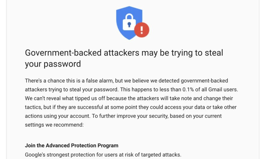 Government-backed attackers