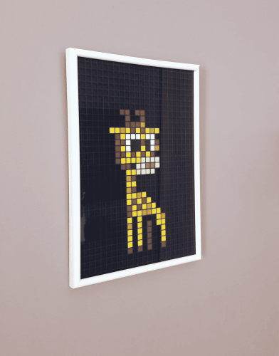 Girafe pixel art mosaique photo