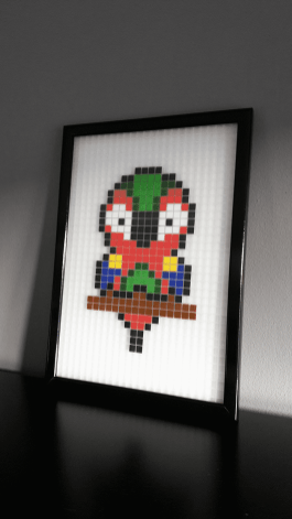 Perroquet pixel art photo 1