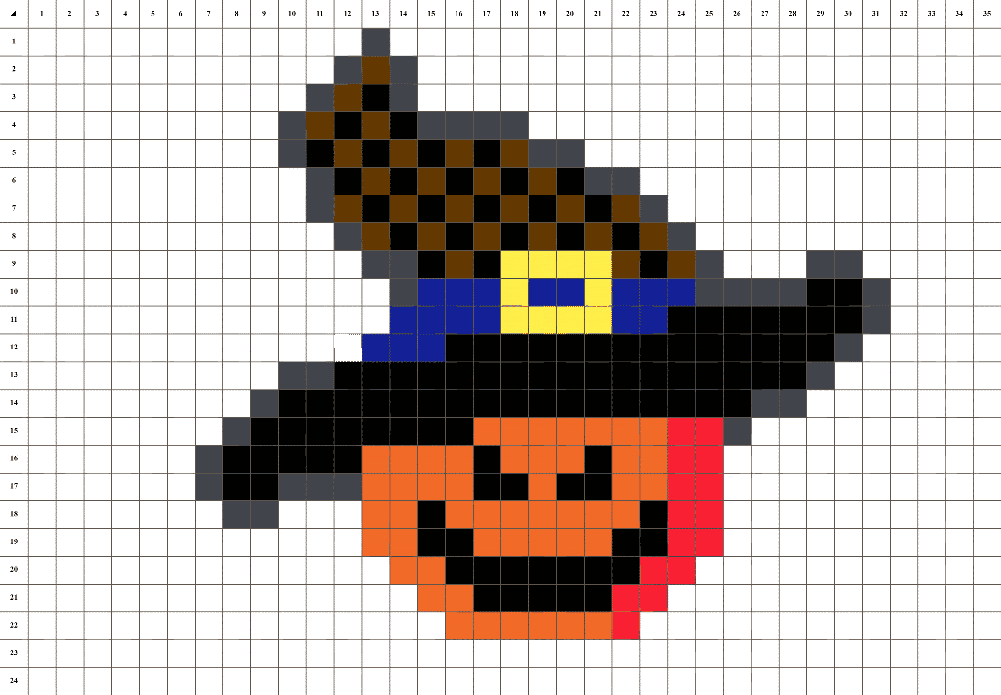 Citrouille D Halloween Pixel Art La Manufacture Du Pixel