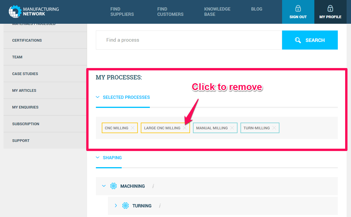 Step 6 on the Processes Tab