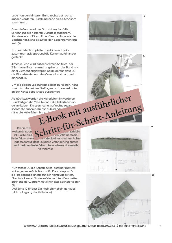 E-Book PDF Schnittmuster Download Culotte Shorts STOCKHOLM Beispiel