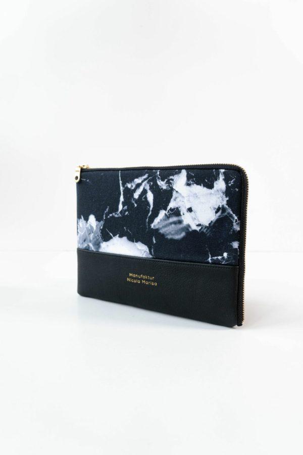 nachhaltige Ipadphuelle Ipad 10 zoll marble dark marmor handmade in germany manufaktur nicola marisa 2
