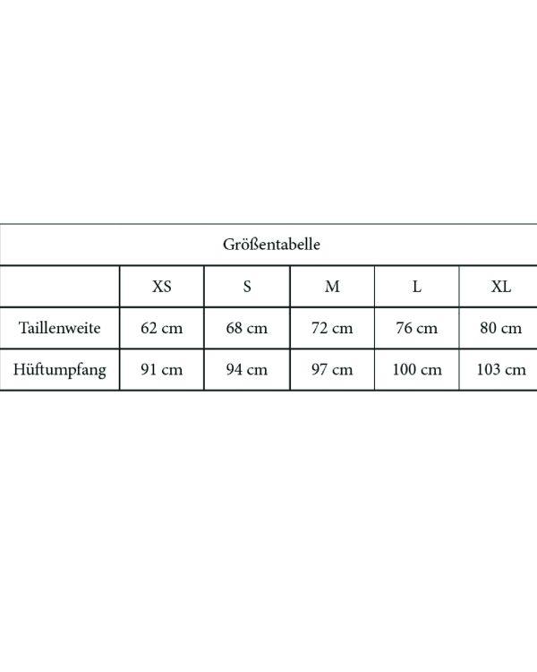 Groessentabelle Culotte Shorts Stockholm A4 1 scaled <ul> <li>super bequeme und luftige Culotte mit Bindegürtel und Gummizug</li> <li>A0-Papierschnittmuster</li> <li>Größe XS - XL</li> <li>Kurzanleitung</li> <li>E-Book zum Herunterladen mit ausführlicher Schritt-für-Schritt-Anleitung & Bildern</li> <li>Schwierigkeitsgrad: mittel</li> </ul>